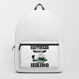 Happiness Is A Day Spent Hiking bw Backpack