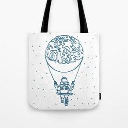 Moon Swinging Astronaut Line Art | Print | Poster | Painting | Drawing Tote Bag