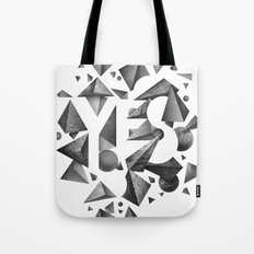 Not So Negative Space - White Tote Bag