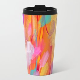 Floral abstract(55) Travel Mug