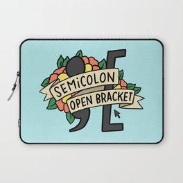 semicolon open bracket Laptop Sleeve