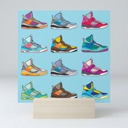 Colorful Sneaker set illustration blue illustration original pop art graphic print Mini Art Print