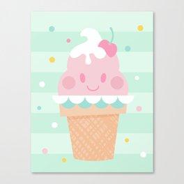Ice Cream - Zoey Canvas Print