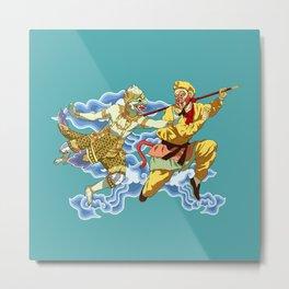 Eastern Mythological Primates Metal Print