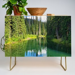 Pacific North West Alpine Lake Credenza