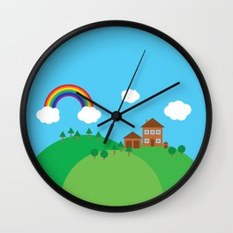 We Love This Place Wall Clock