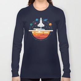 Space Shuttle & Solar System Long Sleeve T-shirt