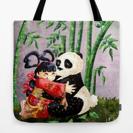 the princess and the panda Tote Bag