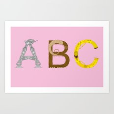 mAY BEE SEE be with you! (pink) Art Print
