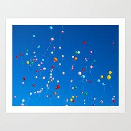 99 Balloons  Art Print