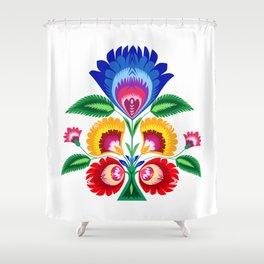 folk flower Shower Curtain