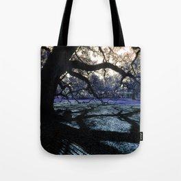 Oak Shadows Lavendar Tote Bag