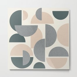 Modern Sphere Abstract Metal Print
