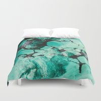 turquoise Duvet Covers featuring Turquoise  by Laura Ruth