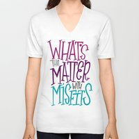 misfits V-neck T-shirts featuring Misfits by Chelsea Herrick