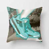 air jordan Throw Pillows featuring Air Jordan IV by Maurice Creative