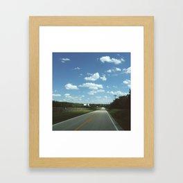 Back Roads Framed Art Print