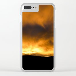 Burning sky Clear iPhone Case