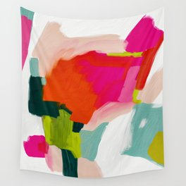 abstract pink art Wall Tapestry