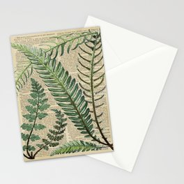Book Art Page Botanical Leaves Stationery Cards