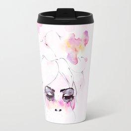 Speechless Girl - My pink sadness in watercolors Travel Mug