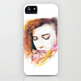 Just me and nature iPhone Case