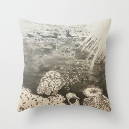 MoonSea EcoSystem Black and White Throw Pillow