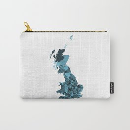 Great Britain Map Print Abstract in Camouflage Marine - A great talking piece for the home! Carry-All Pouch