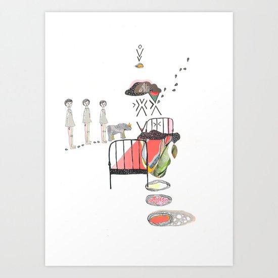 Sleepwalking Art Print