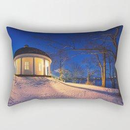 Music Room in Twilight Rectangular Pillow