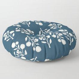 Wildflower - Blue Floor Pillow