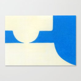 Driveway in Blue Canvas Print