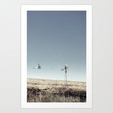 Dustoff downunder - Villenvue, QLD Art Print