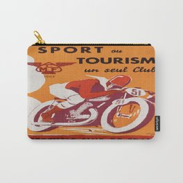 Vintage poster - Motocycle Club de France Carry-All Pouch