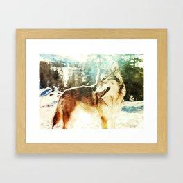 wolf art print Framed Art Print