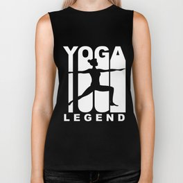 Vintage Style Yoga Legend Warrior Two Yoga Pose Biker Tank