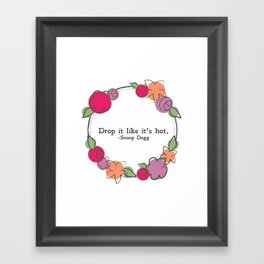 Floral - Drop It Framed Art Print