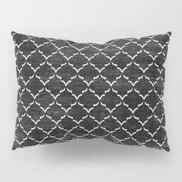 Black and white Moroccan tile pattern Pillow Sham
