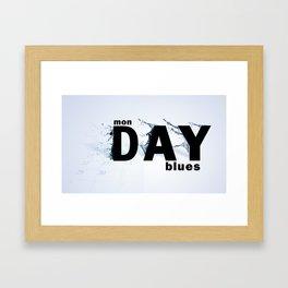 Monday Blues Framed Art Print