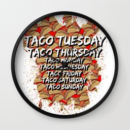 Tacoday Wall Clock
