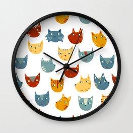 Many Cats Wall Clock