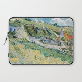 Thatched Cottages and Houses by Vincent van Gogh Laptop Sleeve