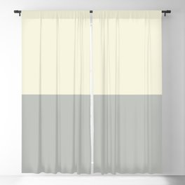 Benjamin Moore 2019 Color of Year Metropolitan AF-690 and Lemon Chiffon 932 Bold Horizontal Stripes Blackout Curtain