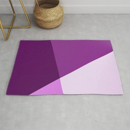 Four shades of purple. Rug