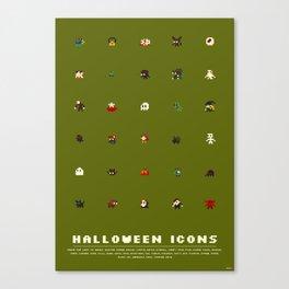 Halloween Icons Canvas Print