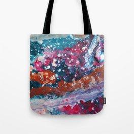 PURPLE NEBULA | Fluid abstract art by Natalie Burnett Art Tote Bag