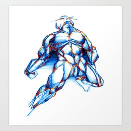 Omega Man Art Print