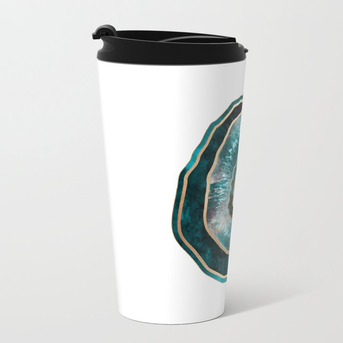 Agate - Turquoise Metal Travel Mug