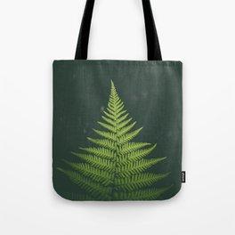 Fern Leaf Green Tote Bag