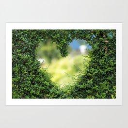 Heart in nature   coeur dans la nature Art Print